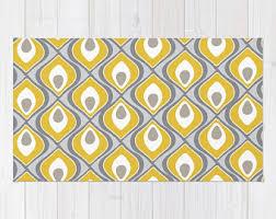 yellow rug etsy