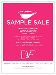 Showroom Invitation Card Dvf London Sample Sale U2014 Aspiring Kennedy