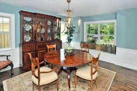 Black Hutches Wall China Cabinet With Wood Dining Table Dining Room Traditional