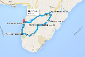map of suva city suva routes the non existent list