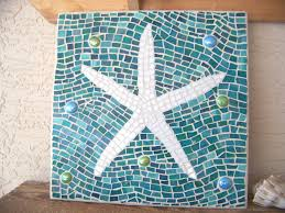 mosaic starfish wall art starfish decor wall hanging stained