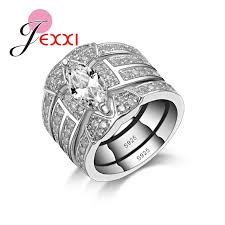 pretty rings pictures images Jexxi luxury pretty girl party wedding engagement rings sets women jpg