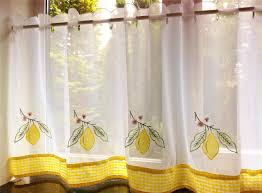 fabulous beige kitchen curtains with blue and yellow plaid gallery