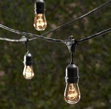 Edison Patio Lights String Light Company Edison Vintage 48 Ft String