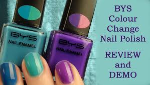 review and demo bys colour change nail polish youtube