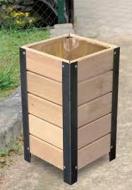 wooden bin wooden waste bins