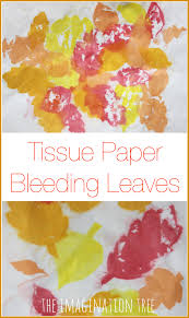 leaf art tissue paper bleeding the imagination tree