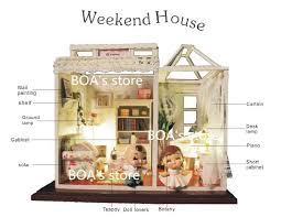 Model Building Desk Doll House Model Building Kits Assembled Handmade 3d Wooden
