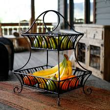 fruit basket stand mesa international delaware collection 2 tier fruit basket