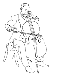 exclusive ideas cello coloring page tattoo and omeletta me