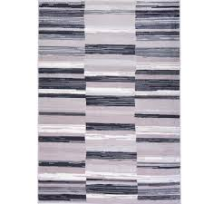 Home Area Rugs Home Dynamix Bazaar City Stripes Gray 7 Ft 10 In X 10 Ft 2 In