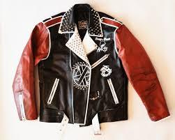 leather riding jackets punk custom leather jacket