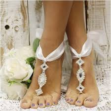 barefoot sandals for wedding cosmopolitan ribbon barefoot sandals white ribbon wedding foot