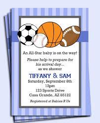 Birthday Invitation Card For Baby Boy All Star Sports Invitation Printable Boys Birthday Baby Shower