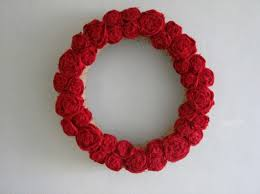 Craft Ideas For Home Decor Round Red Color Wreath And Garland Home Decor Interior Design For