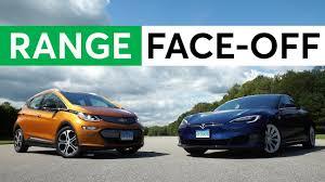 car range electric car range face off chevy bolt vs tesla model s 75d