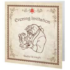Beauty And The Beast Wedding Invitations Wedding Invite Evening Wedding Cards Direct