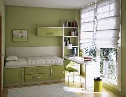 bed options for small spaces green kids bedroom paint color in small space with study desk