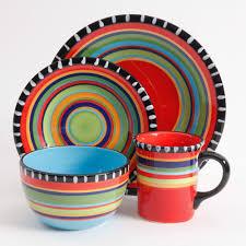 gibson home pueblo springs handpainted 16 dinnerware set