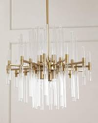 Clear Acrylic Chandelier Brass Acrylic Rods Chandelier