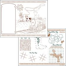 coloring placemats direct source western theme 2 color children s placemats for