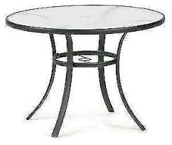 black patio table glass top patio table side covers umbrellas dining ebay