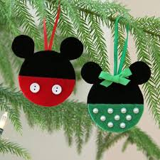 mickey and minnie felt ornaments disney family