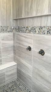bathroom shower floor ideas field tile daltile linden point in grigio accent level pebble