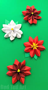 easy paper flowers poinsettia red ted art u0027s blog