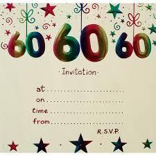 Birthday Card Invitation Ideas Invitations 60th Birthday Party Vertabox Com