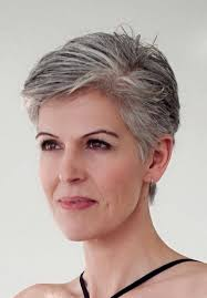beautiful gray hair streaks layered short pixie hairstyles for grey hair vguthrie67