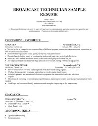 radiologic technologist resume skills broadcast technician resume sample resume samples across all