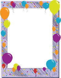 balloon birthday free page borders spyfind