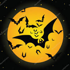 halloween bat and moon u2014 stock vector ollevita 1847616