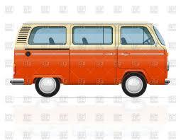 minivan volkswagen hippie retro minivan side view hippie bus vector clipart image 76504