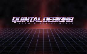 retro 80 u0027s sci fi logo in photoshop youtube