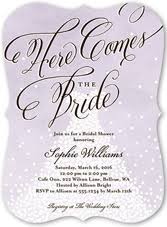 bridal invitation invitations bridal rectangle potrait purple black artistic wording