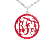 circle monogram necklace circle monogram color necklace mynamenecklace
