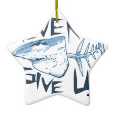 shark caricature ornaments keepsake ornaments zazzle