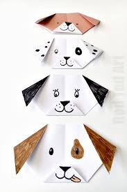 Origami Pets - easy origami puppy ted s