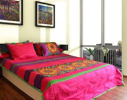 King Size Quilted Bedspreads Fatfatiya Vibrant Flower King Size Quilted Bedspread Fatfatiya