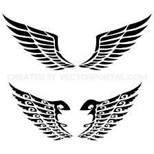 wing set free vector 123freevectors