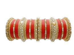 wedding chura bangles lac bridal chura orange wedding bangles by my design size 2 8 at