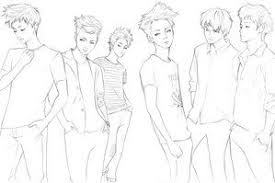 Exo Manga Chibi Exo Coloring Page By Sketch Pan On Deviantart Coloring Pages Kpop