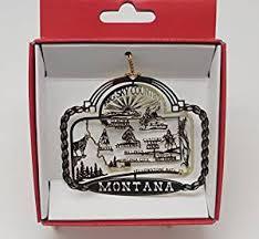 montana big sky country brass state ornament