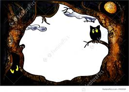 cartoon halloween picture halloween frame royalty free stock images image 10983099
