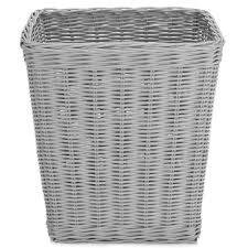 grey rattan waste paper bin times 17 50