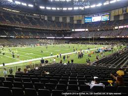 mercedes dome mercedes superdome section 124 seat views seatgeek