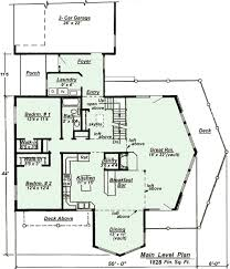 floor plan for model c 501 chalet style house plan
