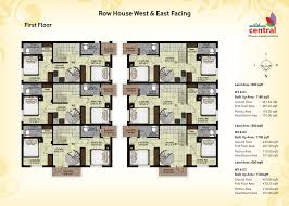 Row House Floor Plans Welcome To Surya Residency Row House Floor Plan